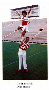 E. Lynn Harris and Dionne Harold, Razorback Cheerleaders © Pryor Center for Arkansas Oral and Visual History, University of Arkansas