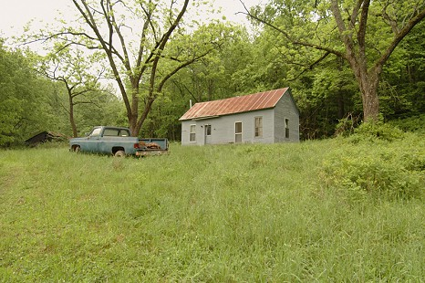 Site photo of the Hawkins homestead near Pettigrew, Arkansas; May 6, 2006 © Pryor Center for Arkansas Oral and Visual History, University of Arkansas