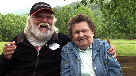 Ronnie Hawkins with Margie Haskins at the Hawkins Family Reunion; Pettigrew, Arkansas, 2006 © Pryor Center for Arkansas Oral and Visual History, University of Arkansas