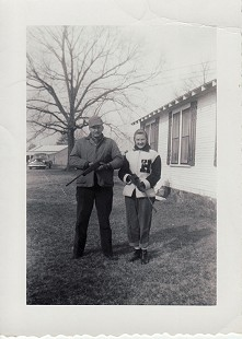 Johnelle DeBusk (Hunt) in a Heber Springs letter jacket with J. B. Hunt © Pryor Center for Arkansas Oral and Visual History, University of Arkansas