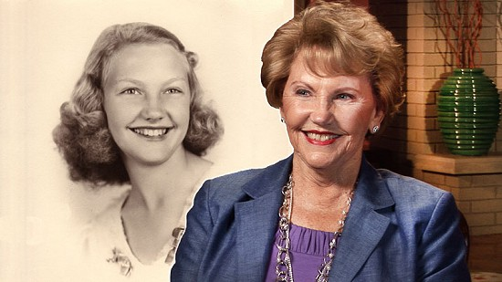 Composite image of early photo of Johnelle Hunt and still frame from Pryor Center video interview © Pryor Center for Arkansas Oral and Visual History, University of Arkansas