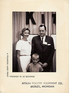 Johnelle and J.B. Hunt with their son, Bryan Hunt © Pryor Center for Arkansas Oral and Visual History, University of Arkansas