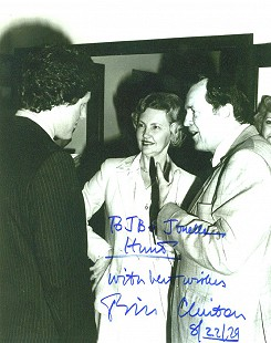 Johnelle and J. B. Hunt talking to Governor Bill Clinton, 1979 © Pryor Center for Arkansas Oral and Visual History, University of Arkansas
