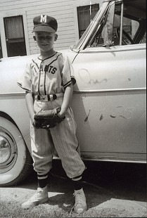 Chester Johnson in his Little League uniform, 1953 © Pryor Center for Arkansas Oral and Visual History, University of Arkansas