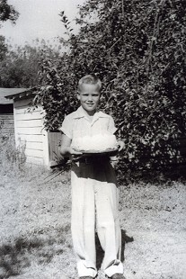 Chester Johnson at age 10 in the backyard of their home; Monticello, Arkansas, 1954 © Pryor Center for Arkansas Oral and Visual History, University of Arkansas
