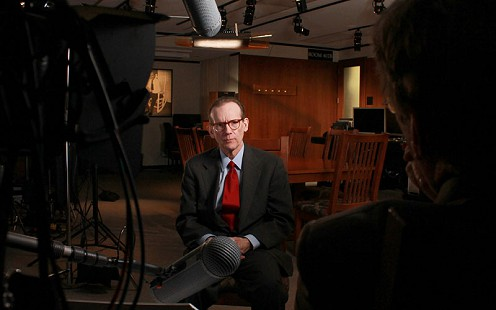 Still frame from Pryor Center video interview with J. Chester Johnson at the Pryor Center on the University of Arkansas campus; Fayetteville, Arkansas, 2010 © Pryor Center for Arkansas Oral and Visual History, University of Arkansas