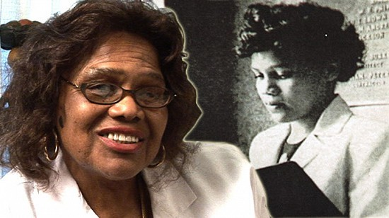Composite image of early photo of Edith Irby Jones and still frame from Pryor Center video interview © Pryor Center for Arkansas Oral and Visual History, University of Arkansas