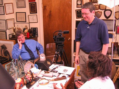 Behind-the-scenes photo from Pryor Center interview with Edith Irby Jones; Houston, Texas, 2006 © Pryor Center for Arkansas Oral and Visual History, University of Arkansas
