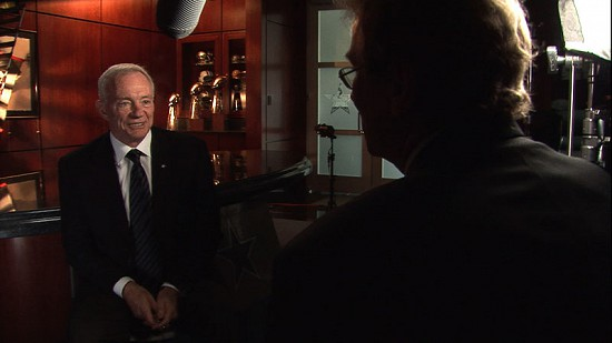 Still frame from Pryor Center video interview with Jerry Jones at the Dallas Cowboys corporate office; Valley Ranch, Texas, 2010 © Pryor Center for Arkansas Oral and Visual History, University of Arkansas