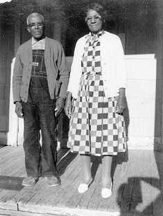 Luther and Emma Curry at Magnolia homestead, ca. mid-1960s © Pryor Center for Arkansas Oral and Visual History, University of Arkansas