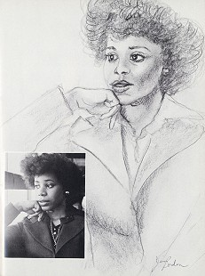 Sketch of Janis Kearney drawn by Jim Borden, 1979  © Pryor Center for Arkansas Oral and Visual History, University of Arkansas