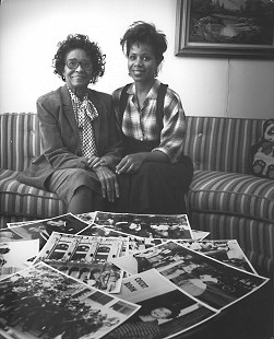 Janis Kearney with her mentor, Daisy Bates © Pryor Center for Arkansas Oral and Visual History, University of Arkansas