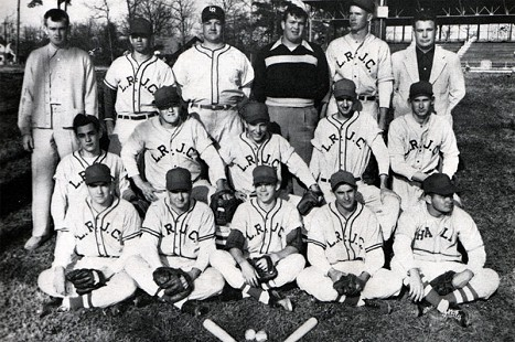 Bob Lamb (middle row, 2nd from left); Little Rock Junior College baseball team, 1951 © Pryor Center for Arkansas Oral and Visual History, University of Arkansas