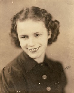 David Lambert's stepmother, Moka Naomi Mankin (Lambert), at age 17 in her high school graduation picture, 1936-1937 © Pryor Center for Arkansas Oral and Visual History, University of Arkansas
