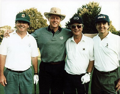 David Lambert (right) with Joe O'Neill, President Bill Clinton, and Lee Williams; Belle Haven Country Club, Alexandria, Virginia, 1995 © Pryor Center for Arkansas Oral and Visual History, University of Arkansas
