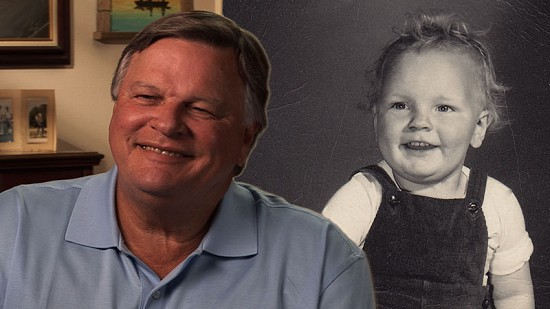 Composite image of early photo of Bill Lancaster and still frame from Pryor Center video interview © Pryor Center for Arkansas Oral and Visual History, University of Arkansas