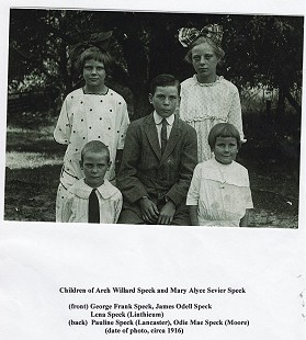 Bill Lancaster's mother, Pauline Speck Lancaster (back row, left), and her siblings, ca. 1916 © Pryor Center for Arkansas Oral and Visual History, University of Arkansas