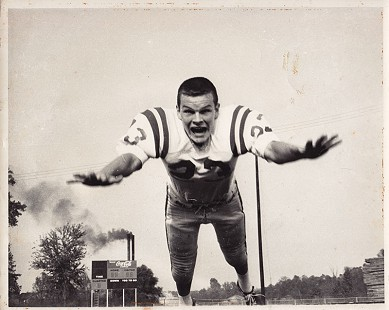 Bill Lancaster, high school football photo © Pryor Center for Arkansas Oral and Visual History, University of Arkansas