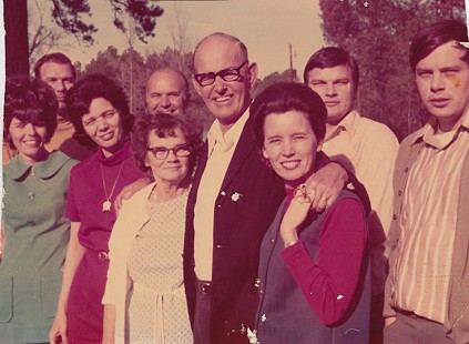 Bill Lancaster (back row, 2nd from right) with family, 1966 © Pryor Center for Arkansas Oral and Visual History, University of Arkansas
