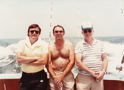 Bill Lancaster, Cliff Hoofman, and Jack McCoy on a fishing trip © Pryor Center for Arkansas Oral and Visual History, University of Arkansas