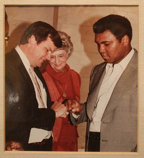 Bill Lancaster (left) and Muhammad Ali © Pryor Center for Arkansas Oral and Visual History, University of Arkansas