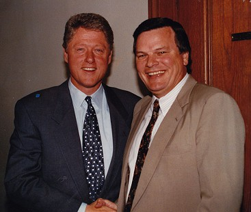 Bill Lancaster (right) with President-elect Bill Clinton, 1992 © Pryor Center for Arkansas Oral and Visual History, University of Arkansas