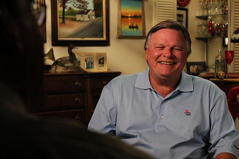 Behind-the-scenes photo from Pryor Center interview with Bill Lancaster; Sheridan, Arkansas, 2012 © Pryor Center for Arkansas Oral and Visual History, University of Arkansas
