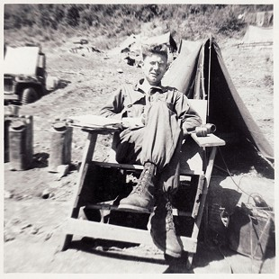 Delbert Lee in US Army camp, Korea, ca. 1951 © Pryor Center for Arkansas Oral and Visual History, University of Arkansas