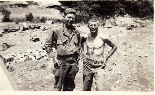 Delbert Lee with friend in US Army camp, Korea, ca. 1951 © Pryor Center for Arkansas Oral and Visual History, University of Arkansas