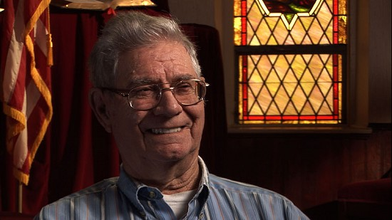Still frame from Pryor Center video interview with Delbert Lee at the Cane Hill Presbyterian Church; Cane Hill, Arkansas, 2011 © Pryor Center for Arkansas Oral and Visual History, University of Arkansas