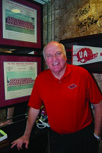 Jim Lindsey with Razorback memorabilia © Pryor Center for Arkansas Oral and Visual History, University of Arkansas