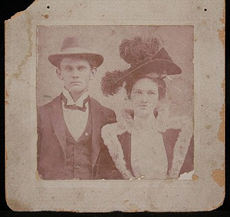 Emon A. Mahony Jr.'s great-uncle, Emon Mahony, with his wife, Pattie Wright Mahony; married January 27, 1898; Emon Mahony was the first attorney in the family © Pryor Center for Arkansas Oral and Visual History, University of Arkansas