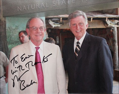 Emon A. Mahony Jr. with Governor Mike Beebe © Pryor Center for Arkansas Oral and Visual History, University of Arkansas