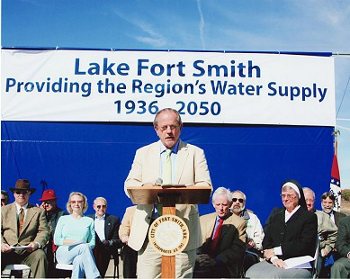 Emon A. Mahony Jr. dedicates the Lake Fort Smith Water Supply © Pryor Center for Arkansas Oral and Visual History, University of Arkansas