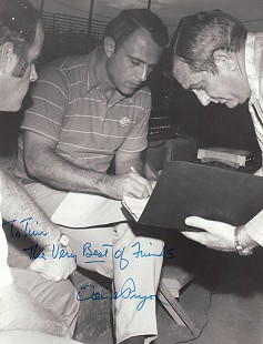 Photo of David Pryor (center) and Tim Massanelli (right), autographed to Tim Massanelli © Pryor Center for Arkansas Oral and Visual History, University of Arkansas