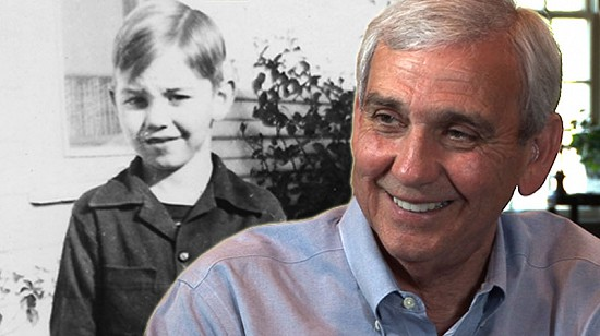 Composite image of early photo of Jerry Maulden and still frame from Pryor Center video interview © Pryor Center for Arkansas Oral and Visual History, University of Arkansas