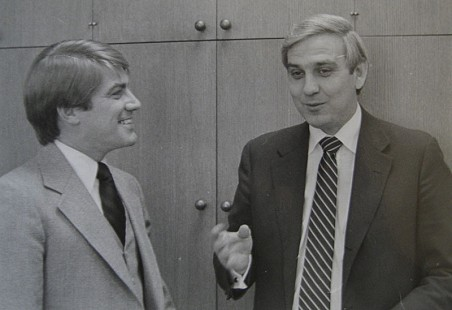 Jerry Maulden (right) with Steve Clark © Pryor Center for Arkansas Oral and Visual History, University of Arkansas