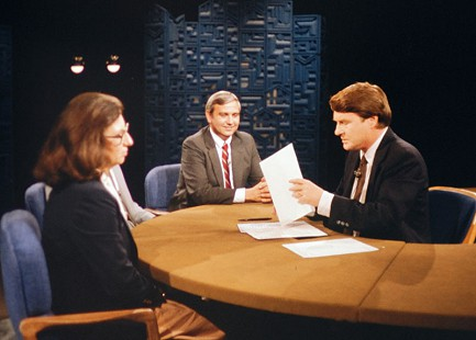 Jerry Maulden on the <i>MacNeil/Lehrer NewsHour</i> &copy; Pryor Center for Arkansas Oral and Visual History, University of Arkansas