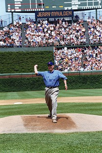 Jerry Maulden on the pitcher's mound © Pryor Center for Arkansas Oral and Visual History, University of Arkansas