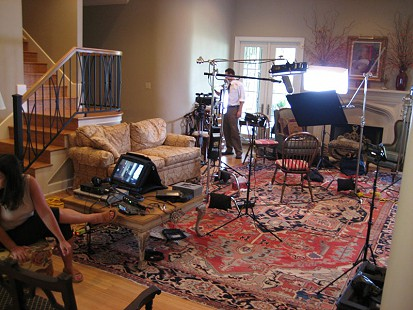 Behind-the-scenes photo from Pryor Center interview with Jerry Maulden; Little Rock, Arkansas, 2007 © Pryor Center for Arkansas Oral and Visual History, University of Arkansas