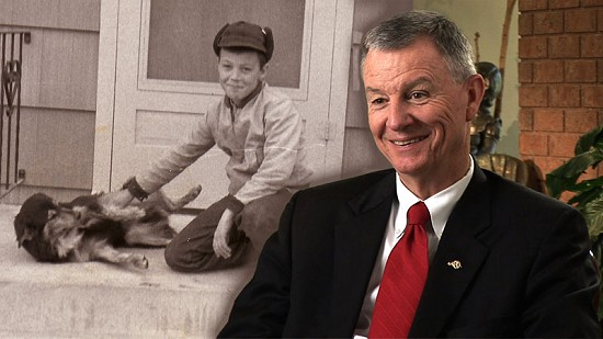 Composite image of early photo of Tommy May and still frame from Pryor Center interview © Pryor Center for Arkansas Oral and Visual History, University of Arkansas