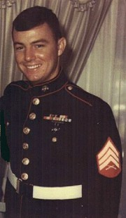 Tommy May in his Marine uniform © Pryor Center for Arkansas Oral and Visual History, University of Arkansas