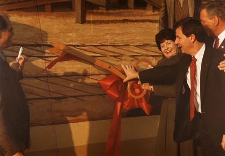 Tommy May at a ribbon-cutting ceremony © Pryor Center for Arkansas Oral and Visual History, University of Arkansas
