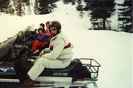 Tommy May on a snowmobile © Pryor Center for Arkansas Oral and Visual History, University of Arkansas