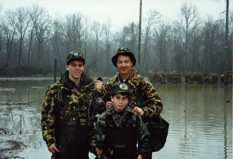 Tommy May duck hunting with his sons © Pryor Center for Arkansas Oral and Visual History, University of Arkansas