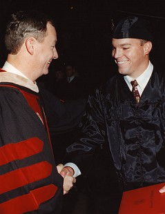 Tommy May at his son's graduation © Pryor Center for Arkansas Oral and Visual History, University of Arkansas