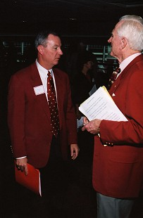 Tommy May and Frank Broyles © Pryor Center for Arkansas Oral and Visual History, University of Arkansas