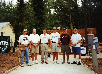 Tommy May (left) as a volunteer at his first house raising for Habitat for Humanity © Pryor Center for Arkansas Oral and Visual History, University of Arkansas