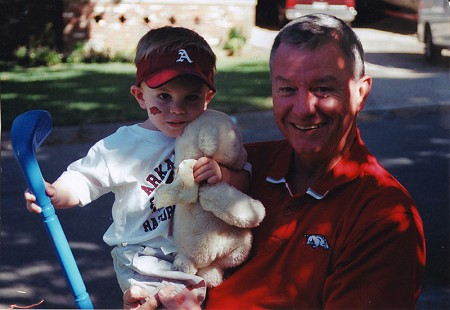 Tommy May with his grandson © Pryor Center for Arkansas Oral and Visual History, University of Arkansas