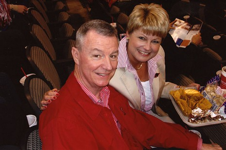 Tommy and Kathryn May at a theater © Pryor Center for Arkansas Oral and Visual History, University of Arkansas